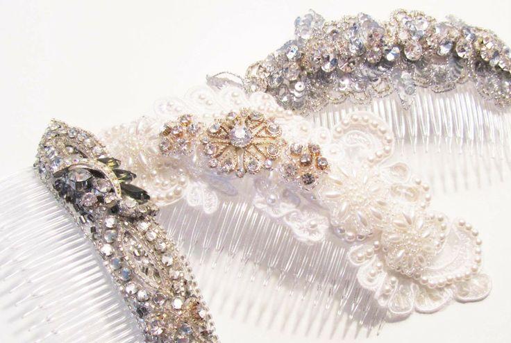 Bridal Hair Combs by Cloe Noel Designs Bridal Accessories