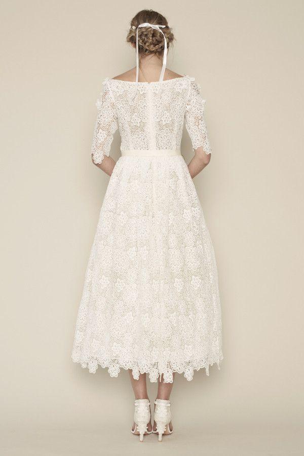 Cara Tea Length Wedding Dress From Rue De Seine