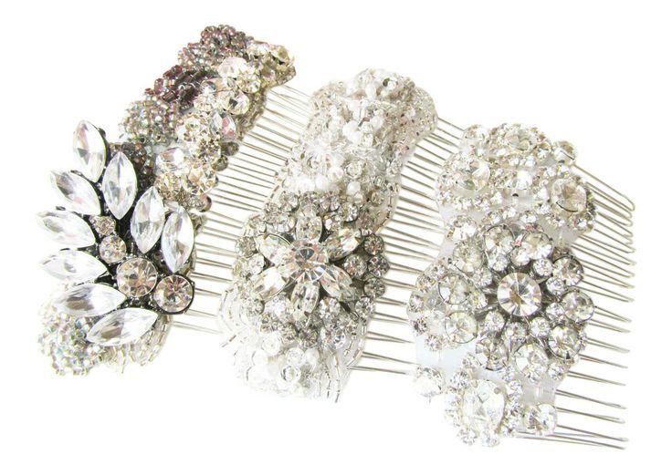 Crystal Bridal Hair Combs from Cloe Noel Designs