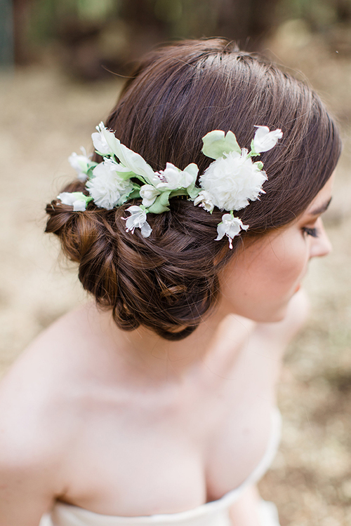 Elodie Silk Flower Comb from Mignonne Handmade