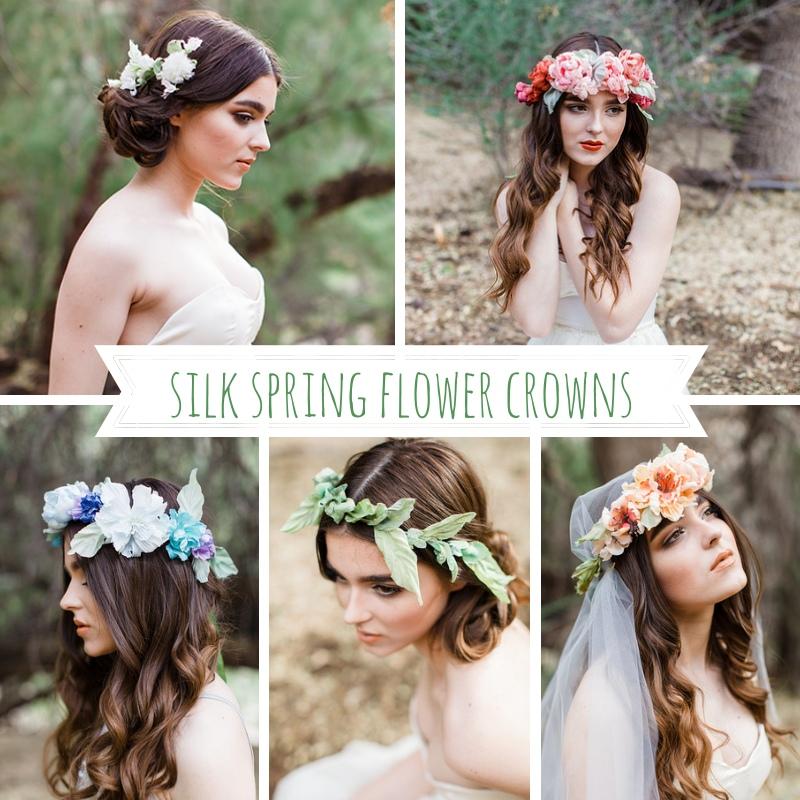 Mignonne Handmade's Silk Spring Flower Crowns