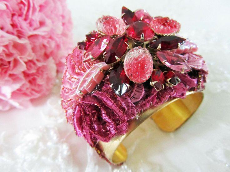 Pink Statement Cuff from Cloe Noel Designs