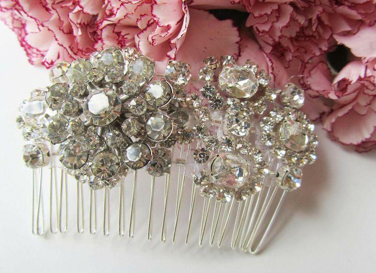 Rhinestone Bridal Hair Comb from Cloe Noel Designs