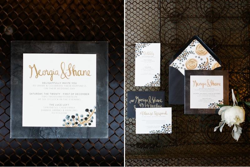 Dark and beautiful wedding invitations