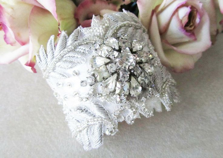 Silver Bridal Statement Cuff from Cloe Noel Designs