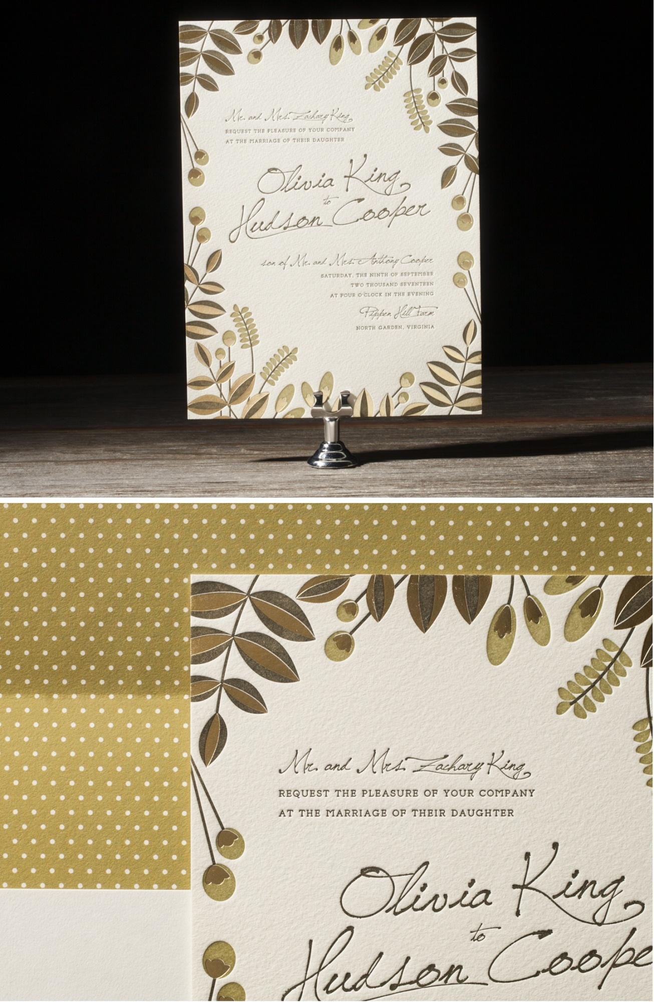 Bittersweet Foil Letterpress Wedding Stationery from Bella Figura's 2014 Collection