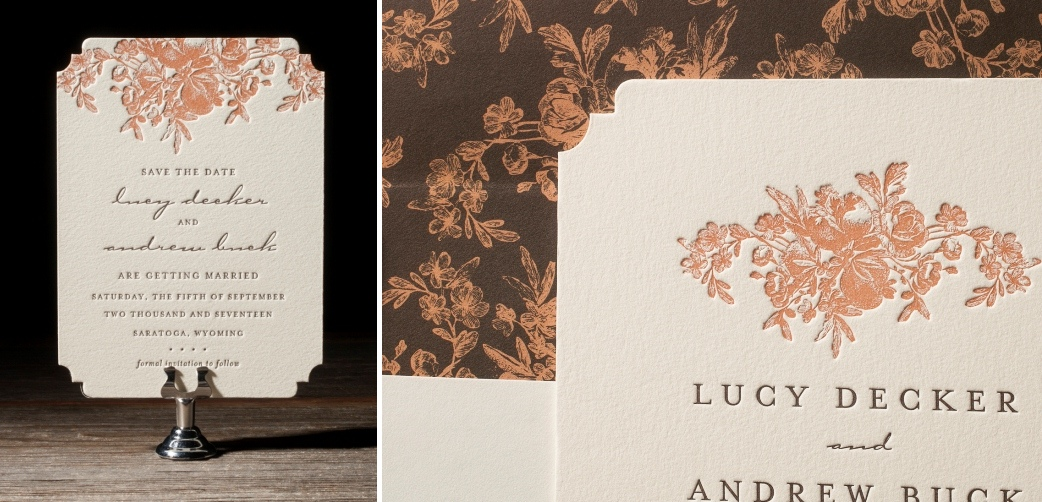 Faunus Letterpress Wedding Stationery from Bella Figura's 2014 Collection