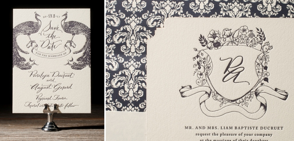 Laurent Letterpress Wedding Stationery from Bella Figura's 2014 Collection
