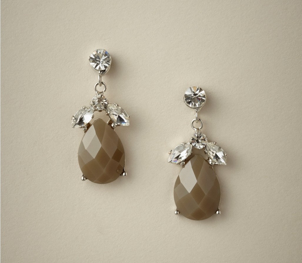 Liddy Drop Bridesmaids Earrings in Dove from Elizabeth Bower