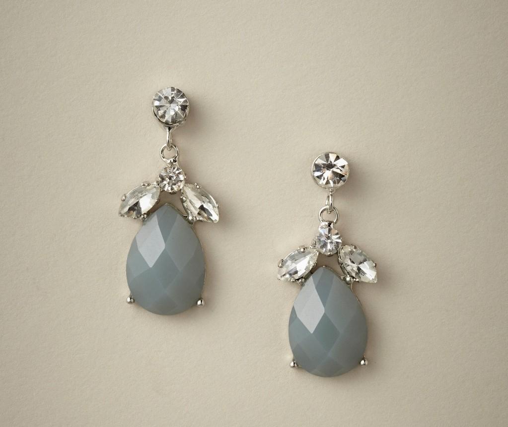 Liddy Drop Bridesmaids Earrings in Periwinklet from Elizabeth Bower