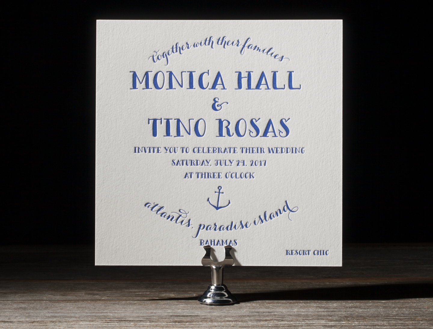 Nassau Letterpress Wedding Stationery from Bella Figura's 2014 Collection