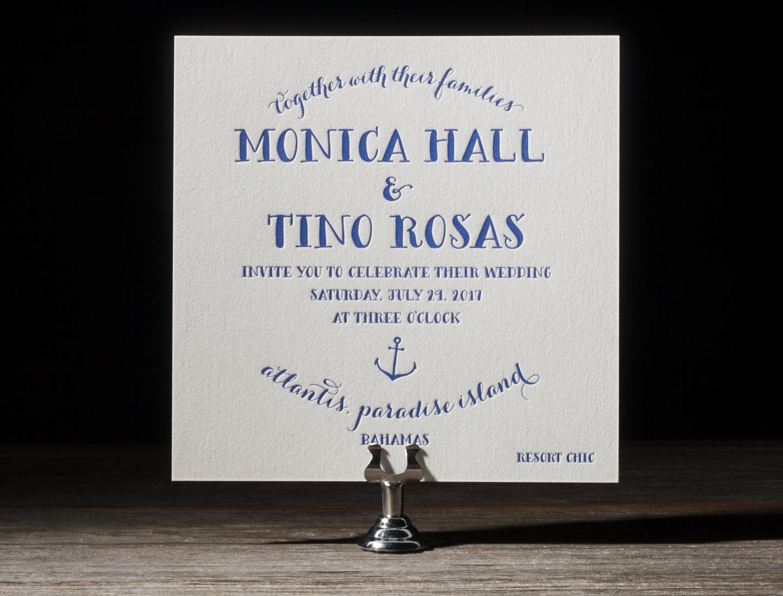 Nassau Letterpress Wedding Stationery from Bella Figura's 2014 Collection