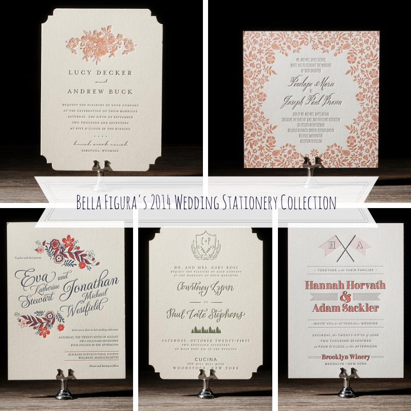 Bella Figura's 2014 Wedding Statioinery Collection