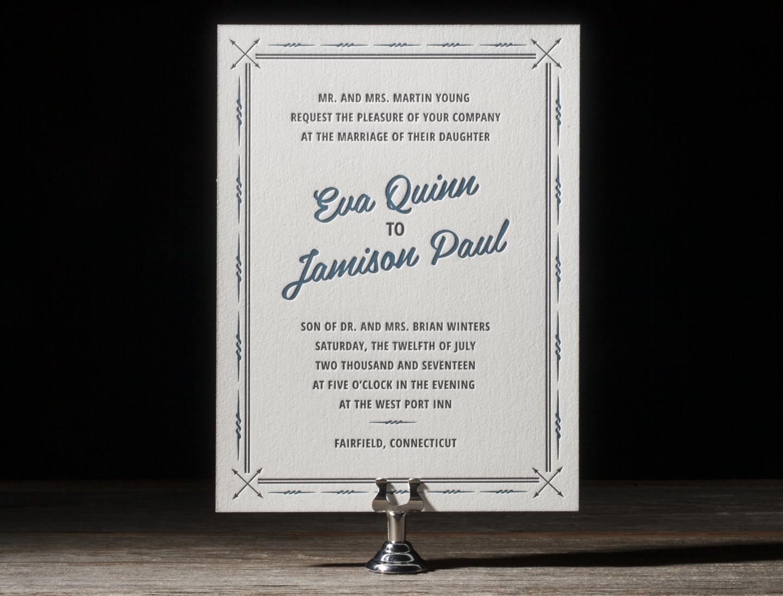 True North Letterpress Wedding Stationery from Bella Figura's 2014 Collection