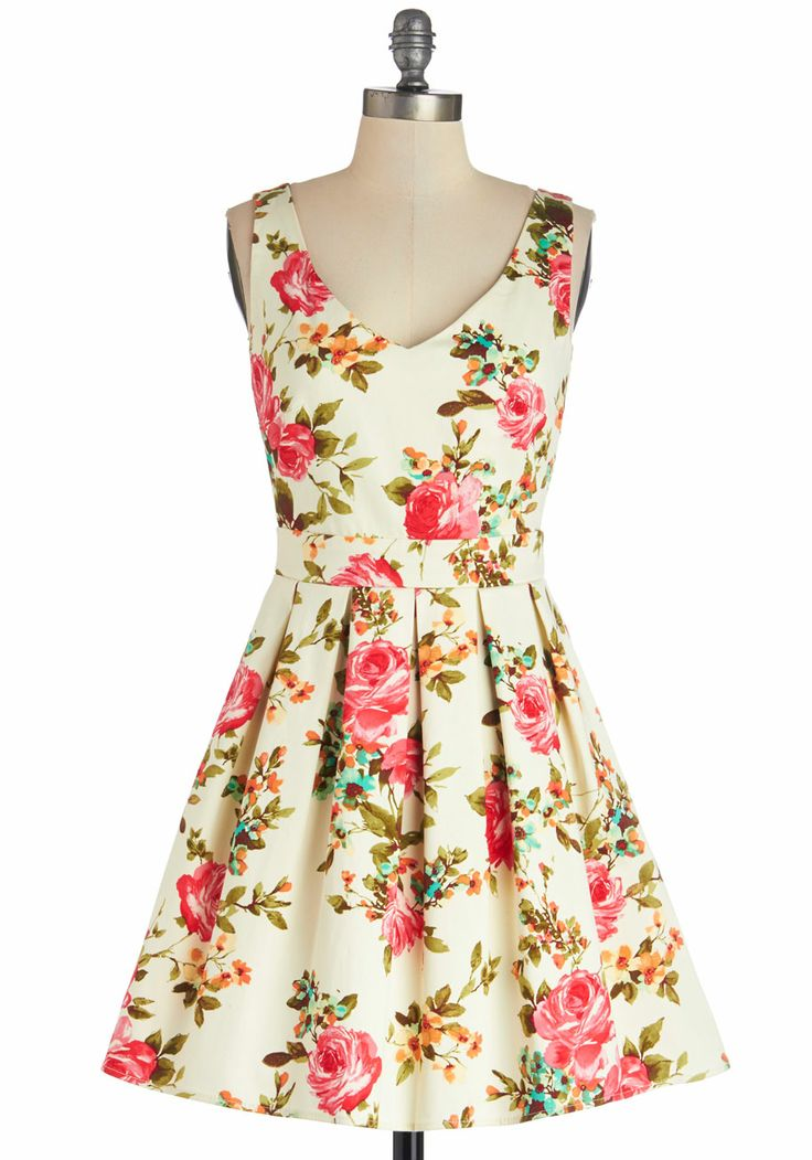 Floral Bookmaking Brunch Dress