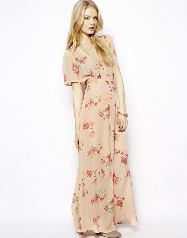 Pretty Floral Maxi Dress
