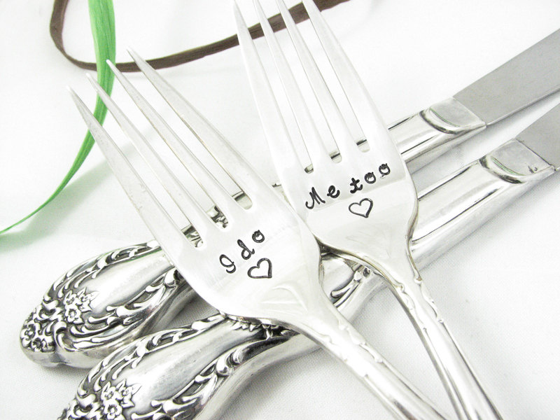 I Do Me Too Vintage Silve Knives & Forks Set
