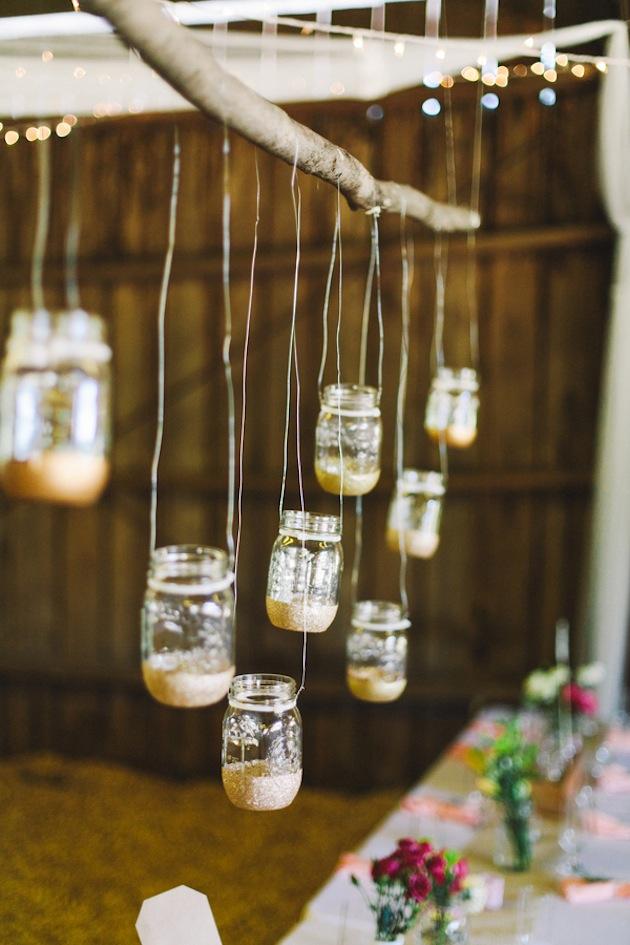 20 Reception Lighting Ideas - Mason Jars