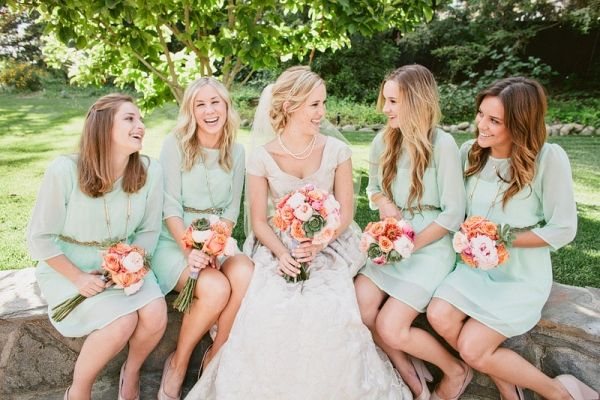 Beautiful Bridesmaids Trends - Mint