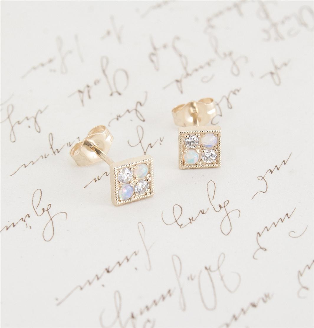 Erica Weiner's 1909 Checkerboard Earrings