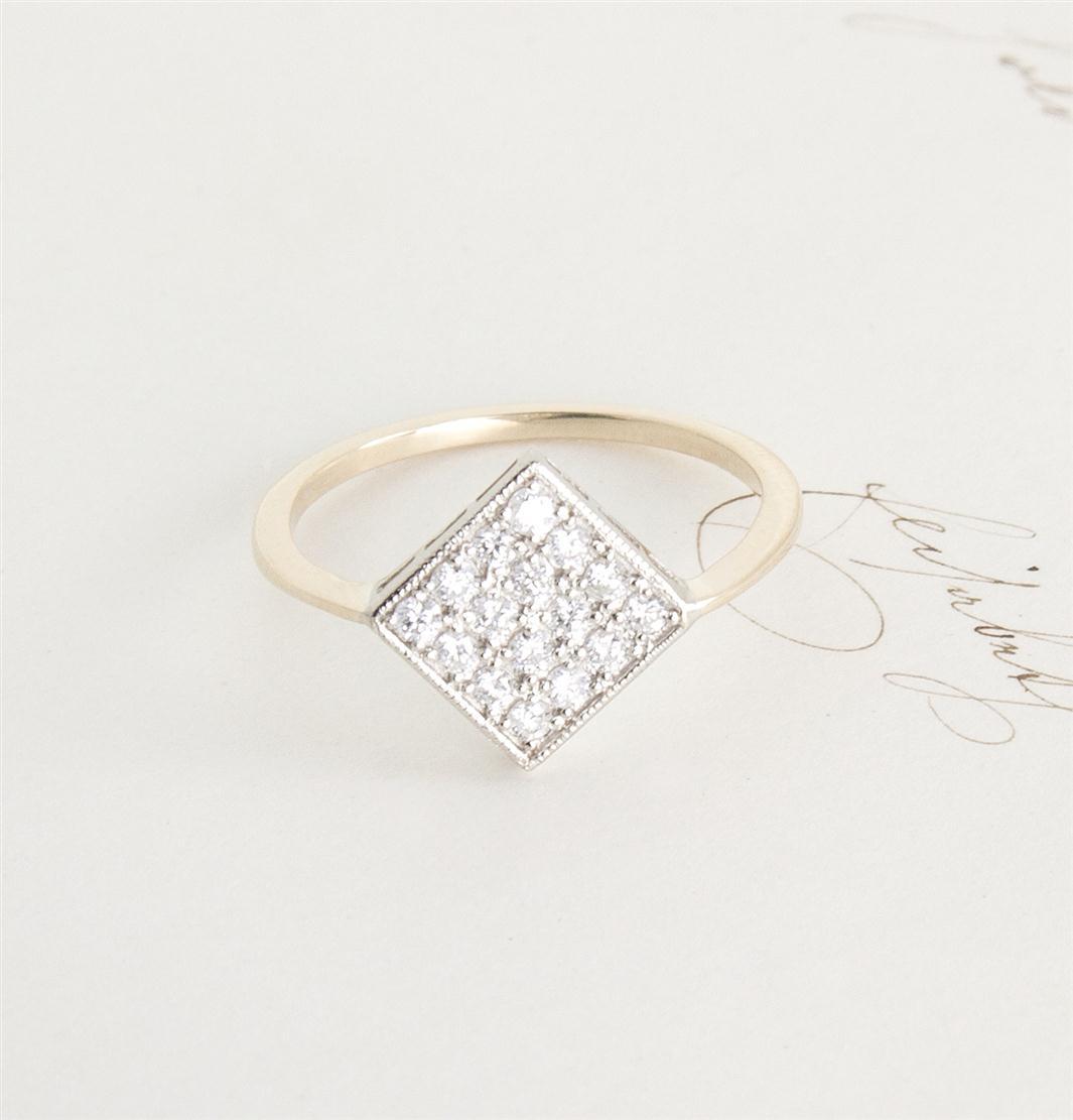 Erica Weiner's 1909 Checkerboard Ring