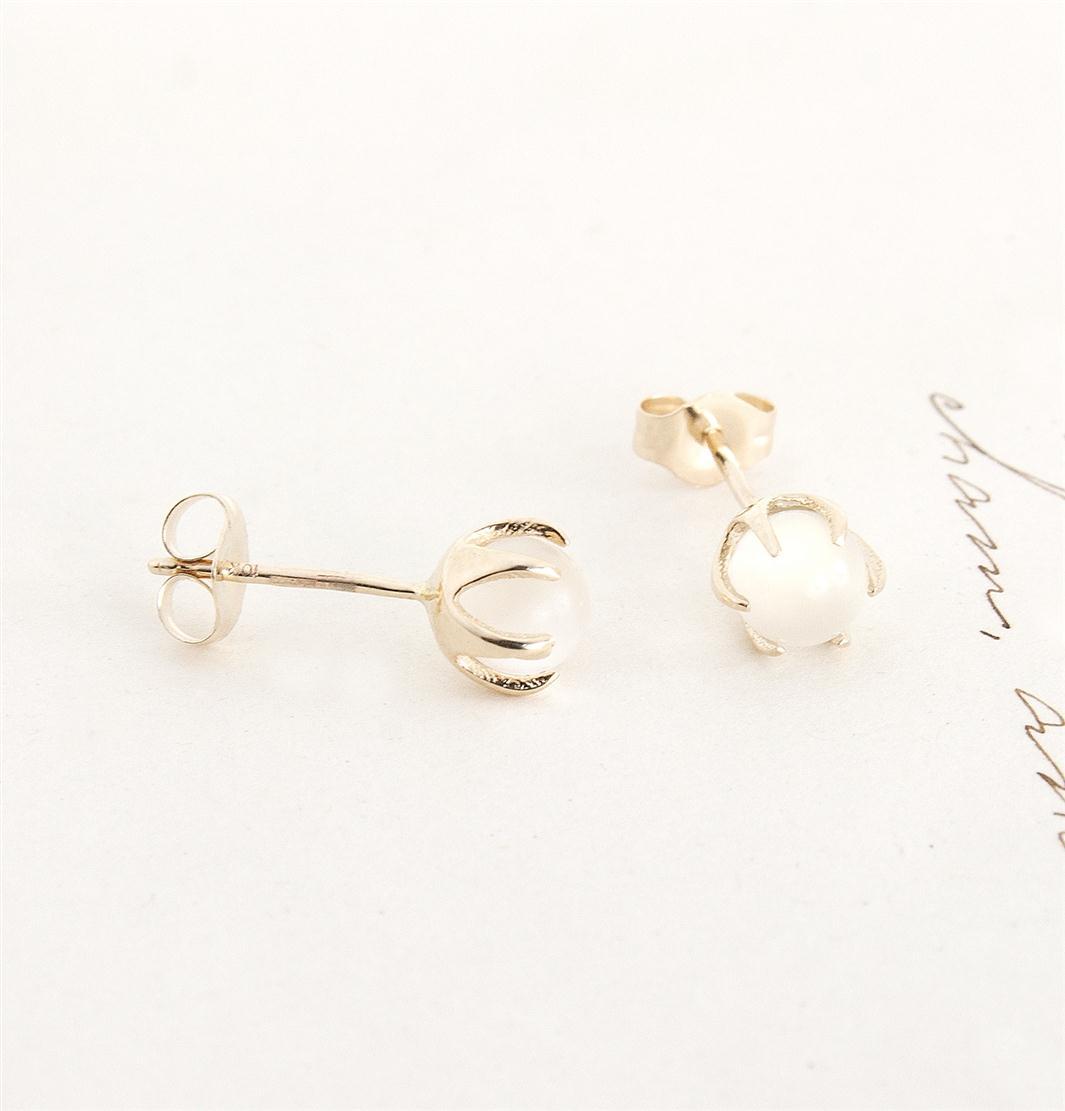 Erica Weiner 1909 Moonstone Crystal Ball Earrings