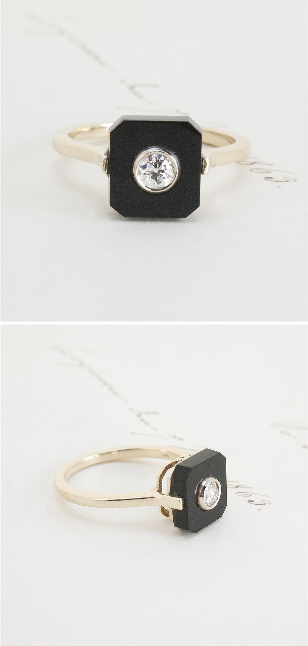 Erica Weiner's 1909 Onyx and Diamond Ring