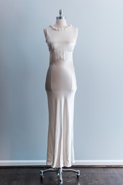 1930s Vintage Wedding Dress from Shop Gossamer