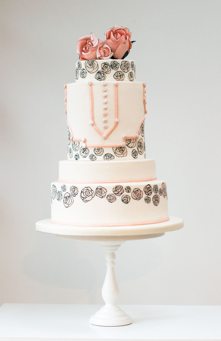 20 Deliciously Decadent Art Deco Wedding Cakes : Chic Vintage Brides