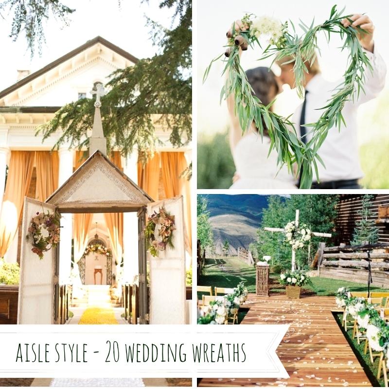 Aisle Style - 20 Wedding Wreaths