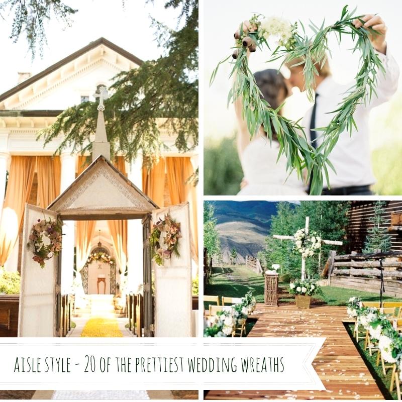 Aisle Style - 20 of the Prettiest Wedding Wreaths