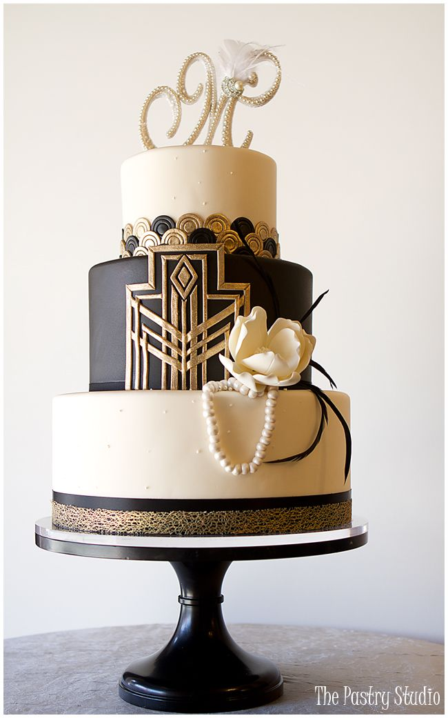 Artist Cake Design : 20 Deliciously Decadent Art Deco Wedding Cakes : Chic ...