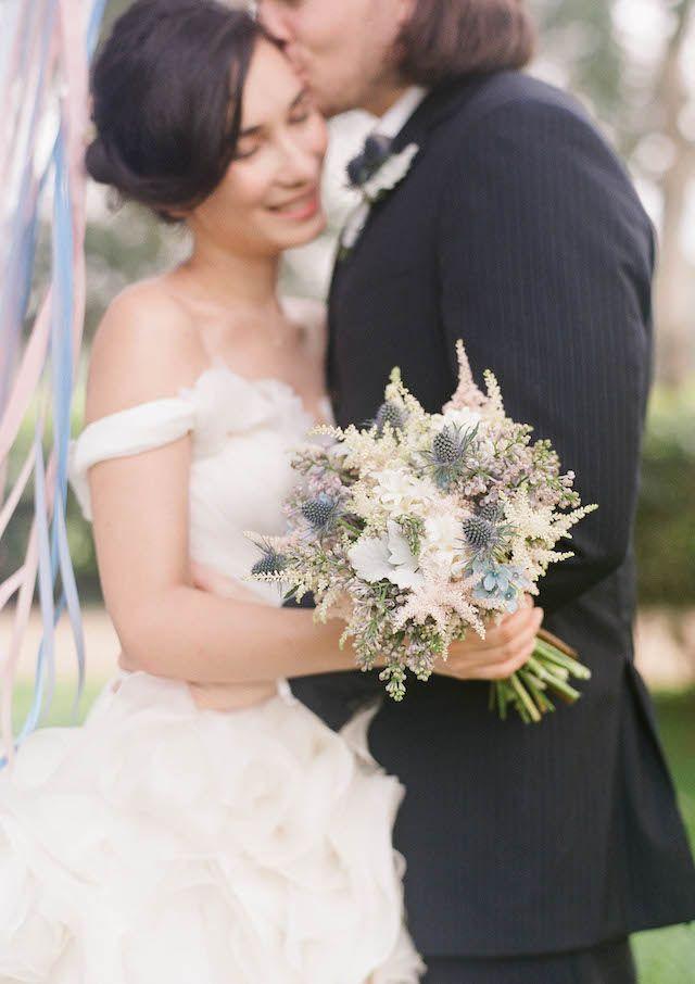 Pastel Blue & Pink Bouquet