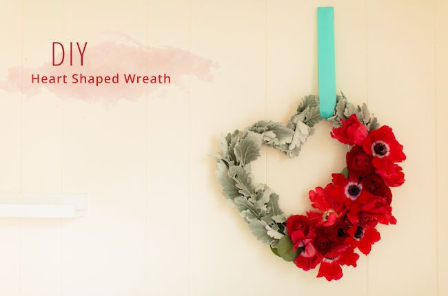 DIY Heart Shaped Wreath