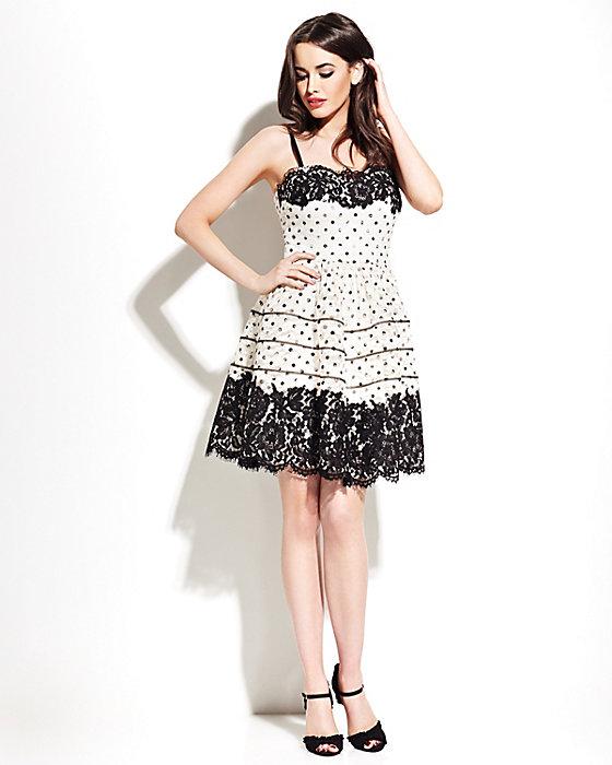 Black & White Subtly Striped Dress
