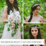 Heirloom Bridal Bouquets & Accessories from Noaki Jewelry