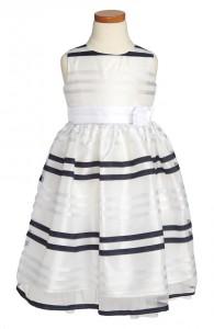 Black white striped flower girl dress chic vintage brides chic black white striped flower girl dress mightylinksfo