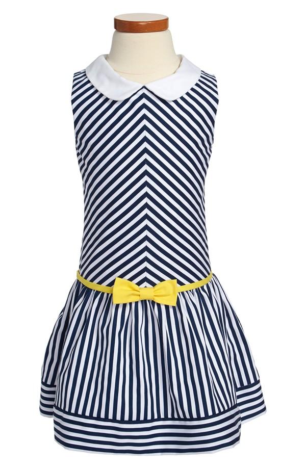 Striped Flower Girl Dress