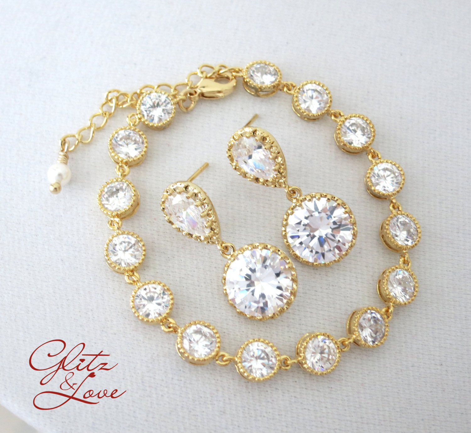 Gold Bracelet Set from Glitz & Love