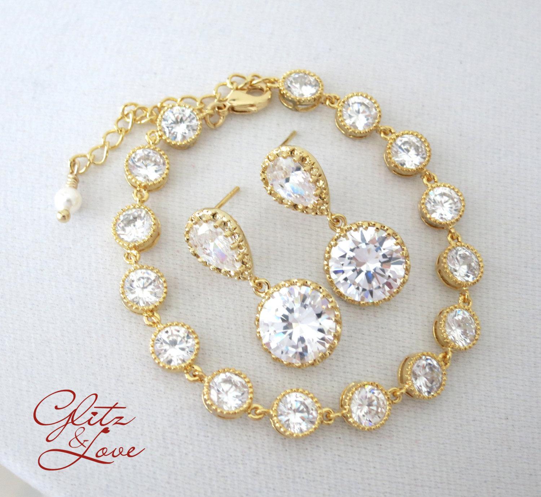 Gold Bracelet Set from Glitz & Love