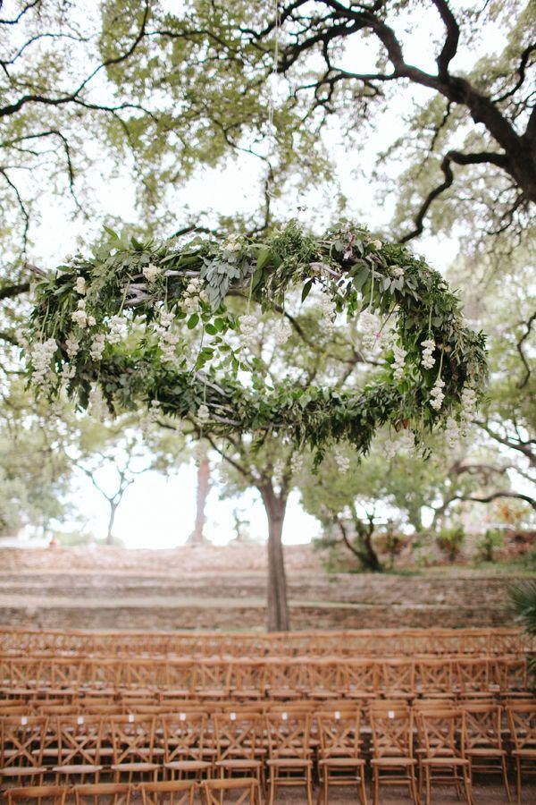 Horizontal Hanging Wedding Wreath