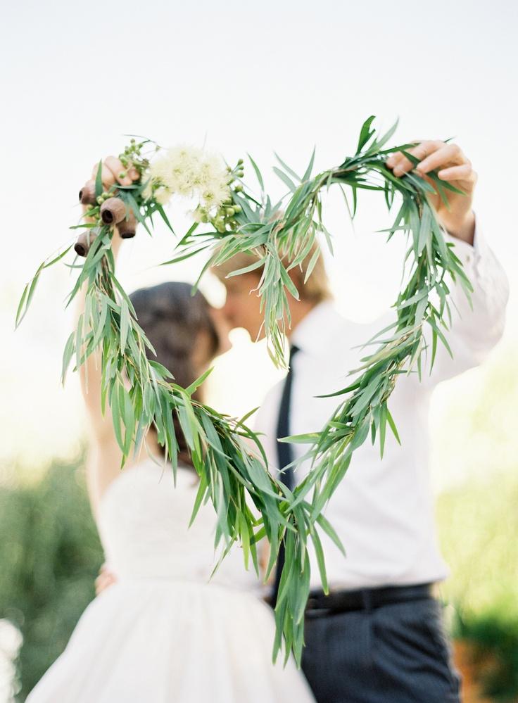 Heart Grass Wedding Wreath