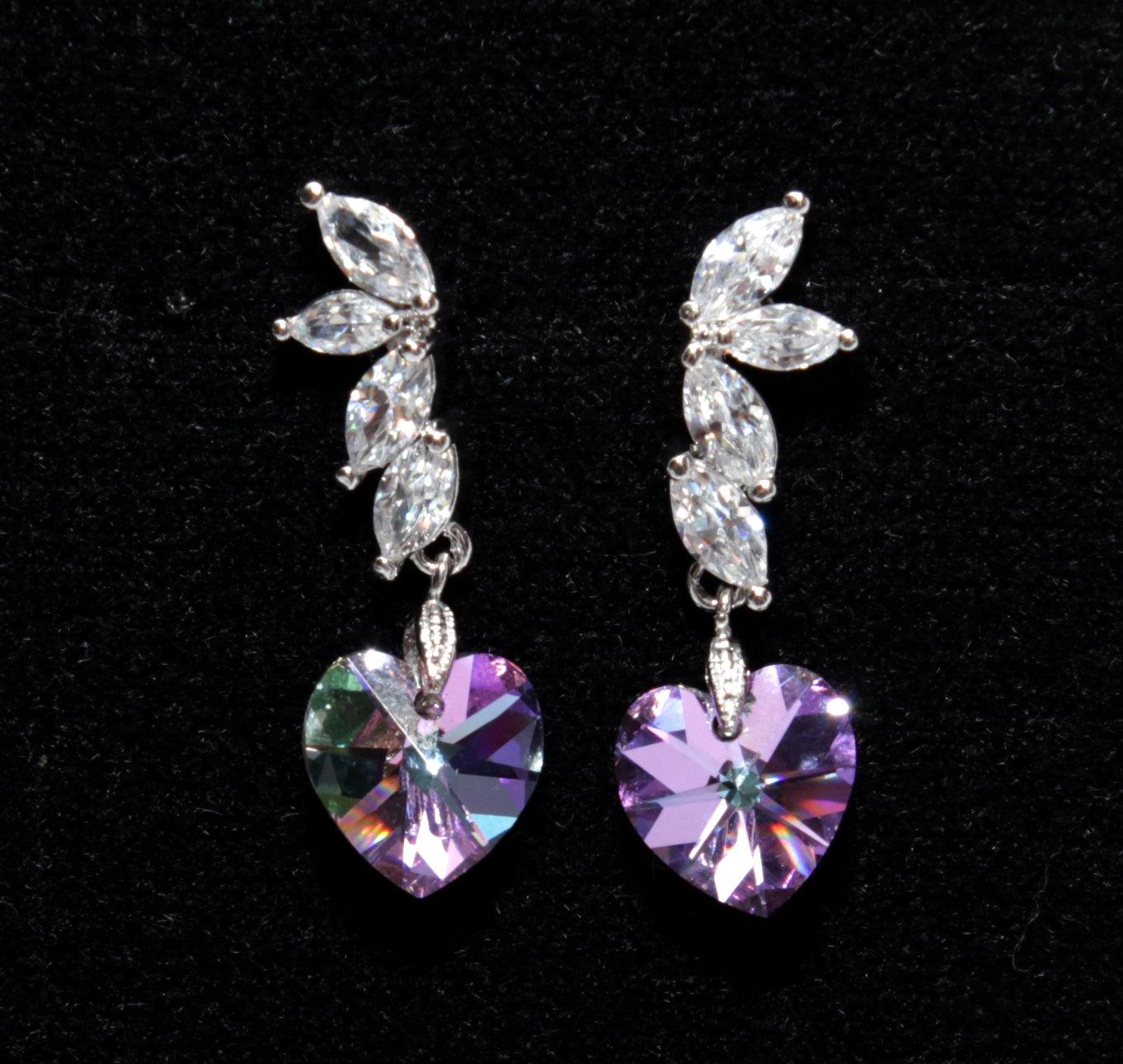 Lavender Drop Earrings from Glitz & Love