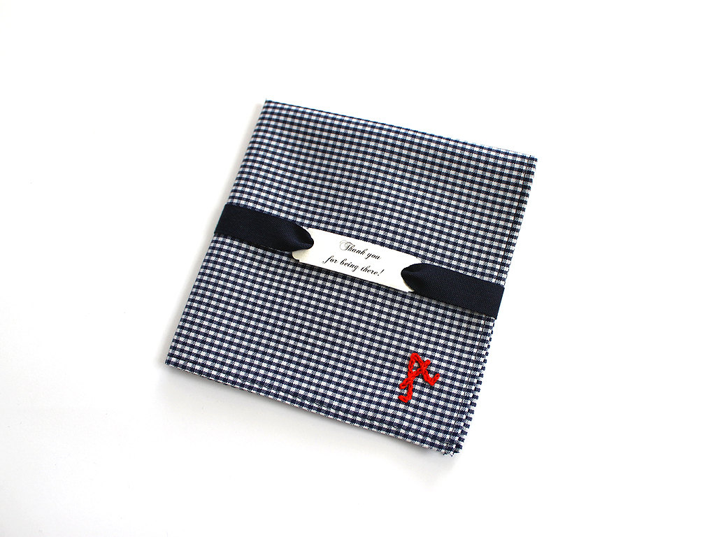 Personalised Groomsmen Pocket Squares from Aristocrafts