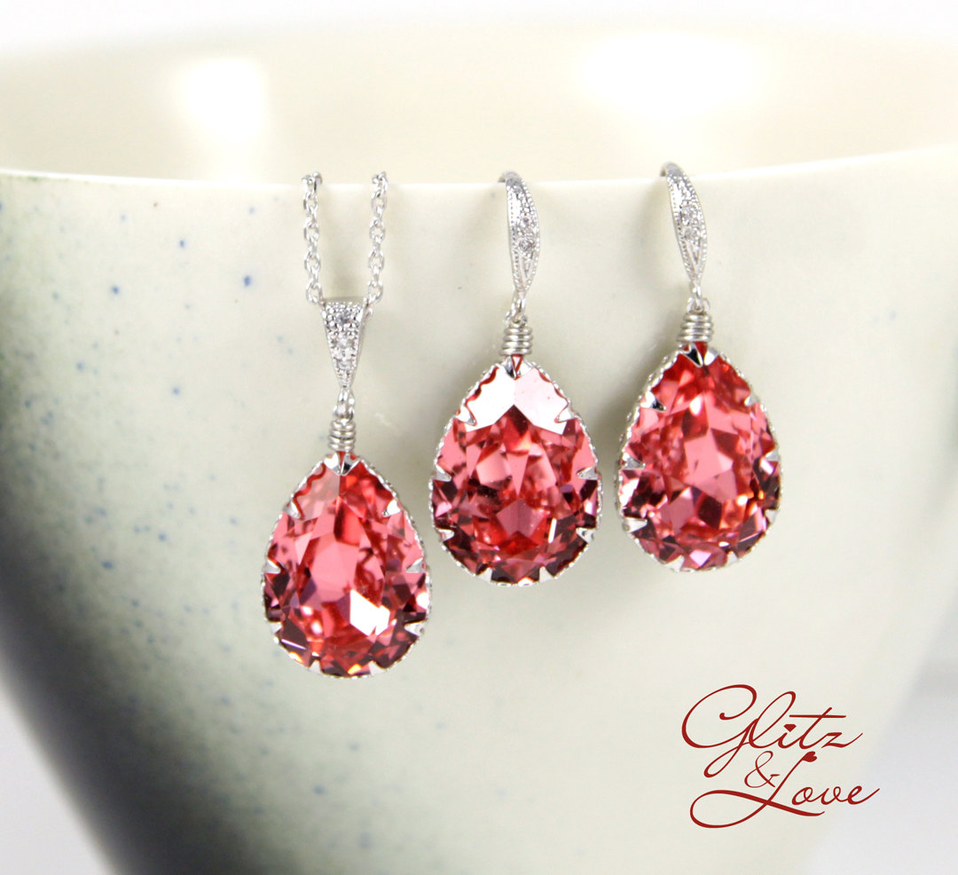 Rose Earrings and Bracelet Set from Glitz & Love