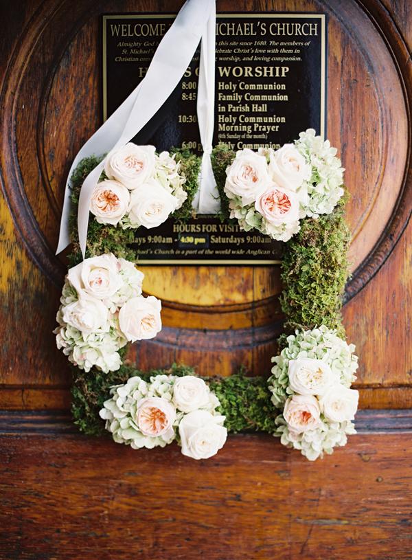 Square Floral Wedding Wreath