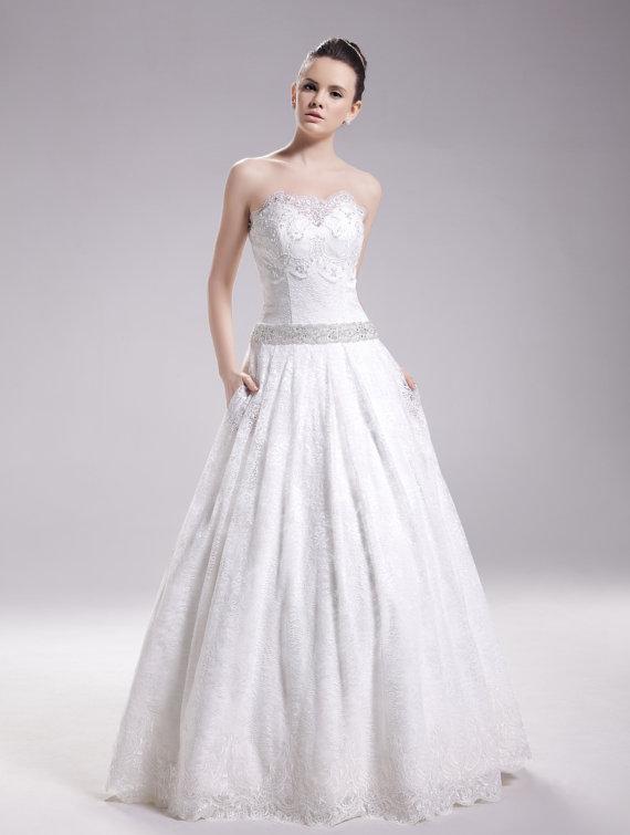 Wanlu Bridal Summer 2014 Miriam Wedding Dress - with pockets
