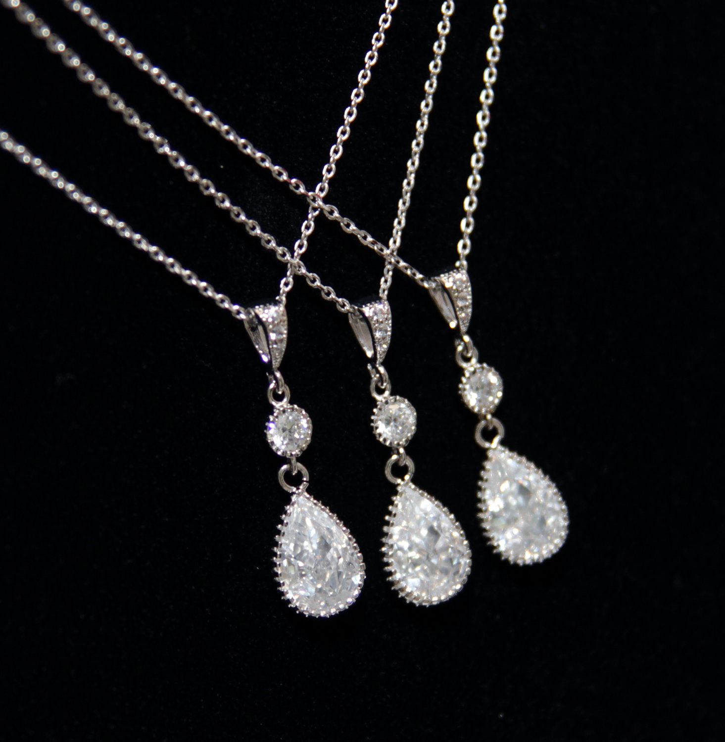 Teardrop Necklace by Glitz & Love