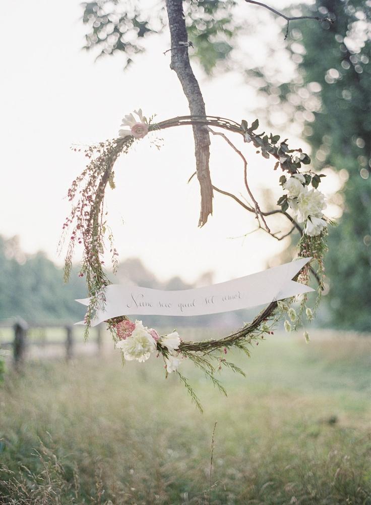 Wedding Wreath Sign