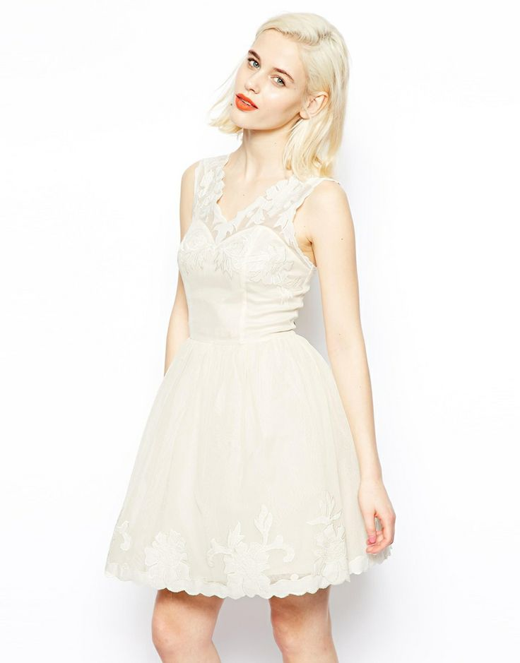 A Timeless & Beautiful Bridesmaids Look ~ Short Ivory dress from ASOS